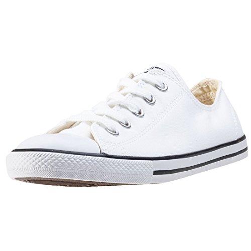 Converse Damen CT AS Dainty OX White Fitnessschuhe, Weiß Blanc Rouge, 42 EU