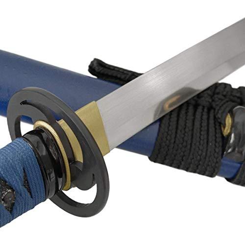 Toshiro Swords Katana Aoi Domoe Samuraischwert Metall Klinge Federstahl sehr scharf!