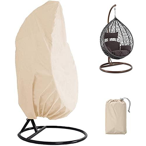 SFSGH Housse de Chaise d'oeuf suspendue de Patio Avec Cordon de serrage, housses de Chaise de balançoire de Jardin 210D Oxford imperméable Coupe-Vent Anti-UV protecteur de meubles d'exté
