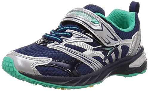 [シュンソク] スニーカー 運動靴 幅広 軽量 15~23cm 2.5E キッズ 男の子 SJC 8340 ネイビー 16 cm