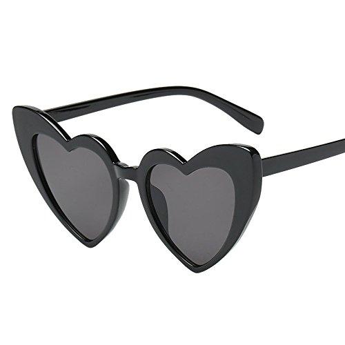 Anmain Forma Cuore Occhiali Da Sole Retro Donna Steampunk Vogue Occhiali Da Vista Occhiali Photo Props Occhiali Da Sole Toy Sunglasses Cat Eye Sunglasses Visor Eyewear (E)