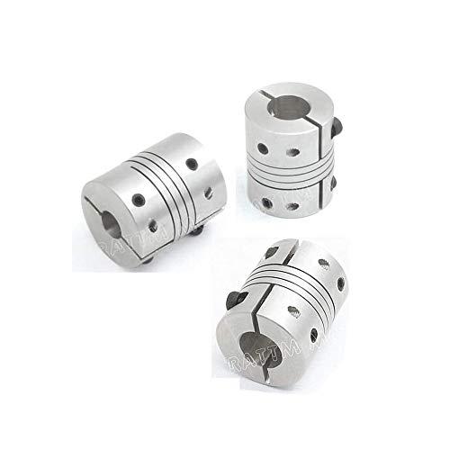 flexible couplings 3Pcs 6.35x8mm Flexible Couplers CNC Motor Jaw Shaft 6.35mm To 8mm Aluminum Flexible Couplings Stepper Motor Connector D25L30 Fo CNC Router Milling Engraving Machine