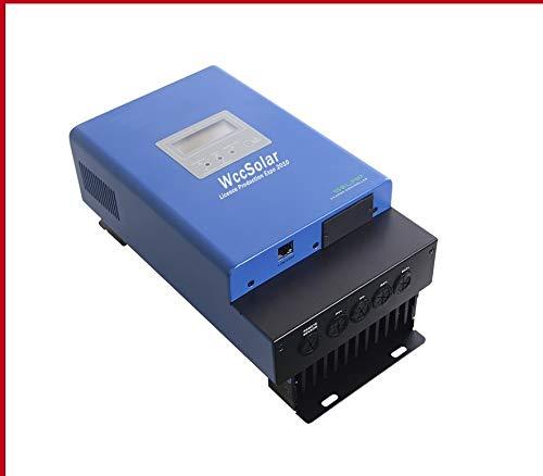 PlusEnergy Regulador Solar 145V Carga Solar Autoswitch MPPT Solar Panel Controller 60A 12V 24V 48V