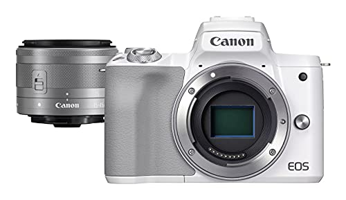 Canon EOS M50 Mark II Blanca + Objetivo EF-m 15-45mm