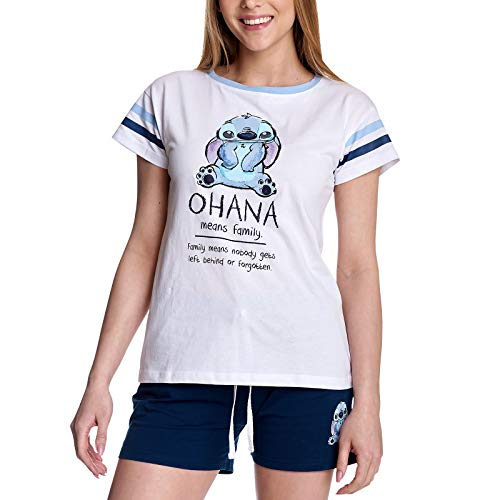 Elbenwald Lilo & Stitch - Ohana Means Family Pyjama Kurz