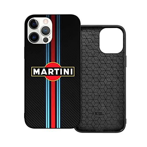 Compatibile con iPhone 12/11 Pro Max 12 mini SE X/XS Max XR 8 7 6 6s Plus Custodie Martini Racing Cocktail Vermouth Nero Custodie per Telefoni Cover