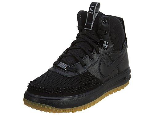 Nike Kid's Lunar Force 1 Duckboot (GS) (Black/Black-Metalic Silver, 7Y)