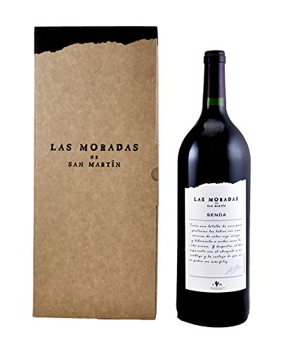 Las Moradas - Vino Tinto Magnum Senda 2016 - Botella de 1,5 L - Vino Tinto Fresco y Aromático - Variedad Garnacha - Vinos de Madrid