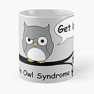 92Wear Owl Night Bird Animal Cartoon Birthday Present Fun Funny Humour Smile Happy Best 11 oz Taza De Café - Taza De Motivos De Café