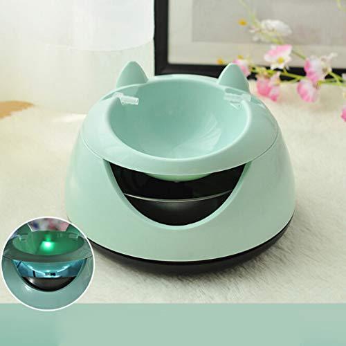 WT-DDJJK Tazón de Bebida para Gatos, Mascota silenciosa aut