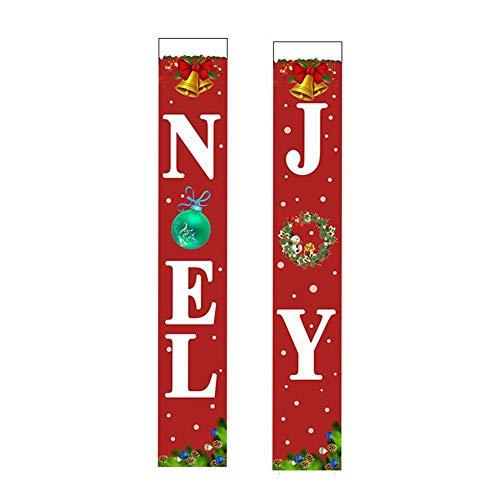 Banner de Porche de Navidad, Carteles de Joy Noel, Cartel de Puerta...