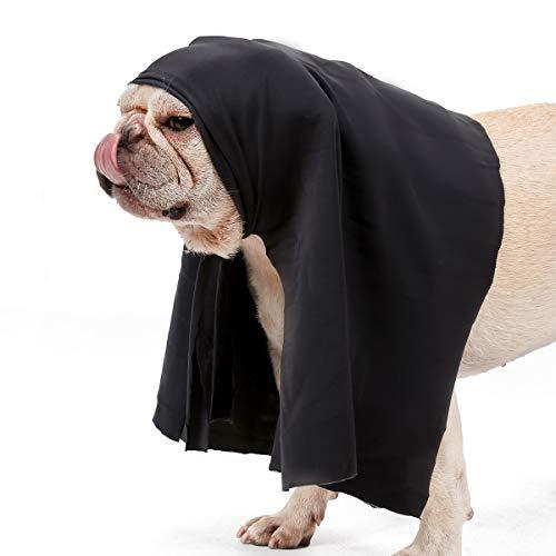 NashaFeiLi Haustier-Maulkorb für Hunde Halloween Lustige Maulkorb Maske Katzenbekleidung für Katze Hund (S, Umhang)