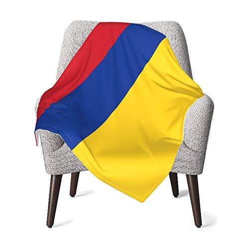 Manta de bebé para niños y niñas, diseño de bandera de Colombia para guardería, manta cálida para el hogar, manta de felpa unisex, 76 x 106 cm