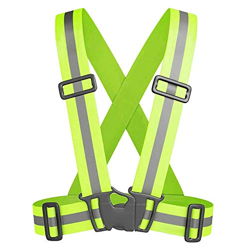 Tolsen - Chaleco Reflectante de Alta Visibilidad con Tirantes elásticos para Seguridad Running (2-Pack)