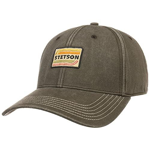 Stetson Lenloy Cotton Cap Herren One Size (55-60 cm) - UV-Schutz 40+ - Leichte Strapback aus 100% Baumwolle - Verstellbare Baseballcap - Sommer/Winter braun-grau One Size