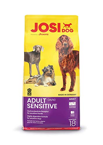 JosiDog Adult Sensitive (18kg) |Hundefutter für sensible Hunde | Premium Trockenfutter für ausgewachsene Hunde | powered by JOSERA | 1er Pack