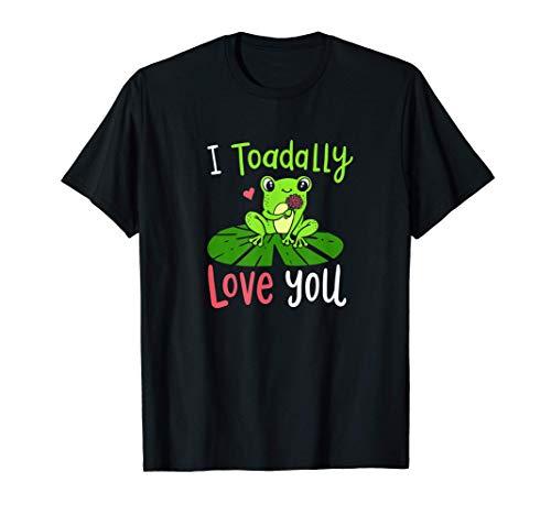 Te quiero mucho, lindo disfraz de rana con tema de animales. Camiseta