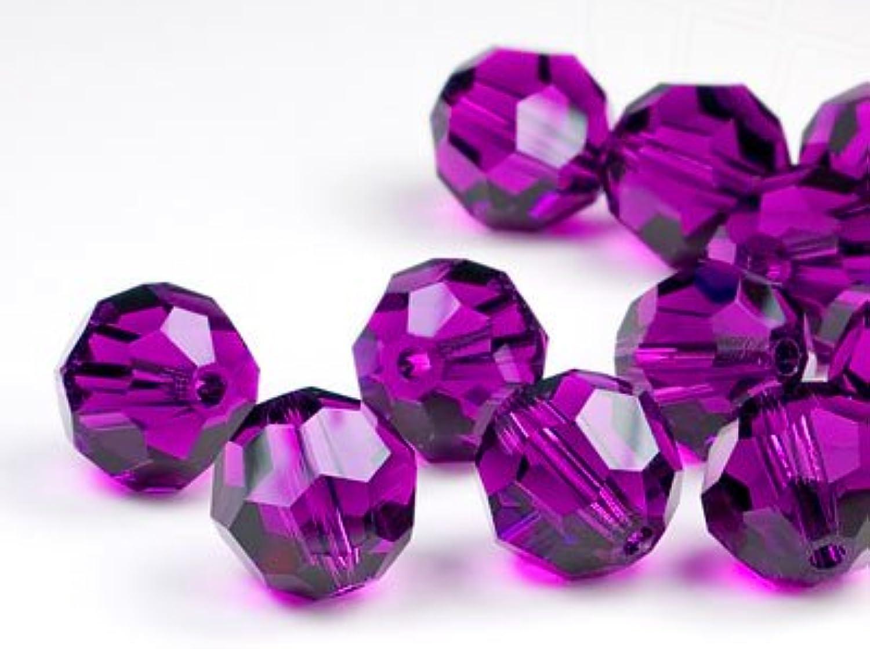 Glass Beads of Swarovski Elements round 6mm (Amethyst), 360 Pieces