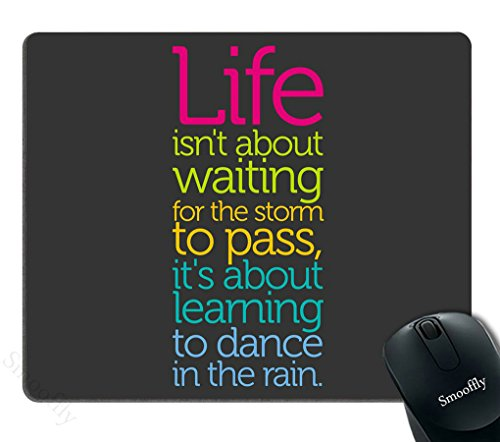 Smooffly Gaming Mouse Pad Custom,Life Quotes Mouse pad 9.5 X 7.9 Inch (240mmX200mmX3mm)