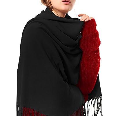 Womens Thick Soft Cashmere Wool Pashmina Shawl Wrap Scarf - Aone Warm Stole
