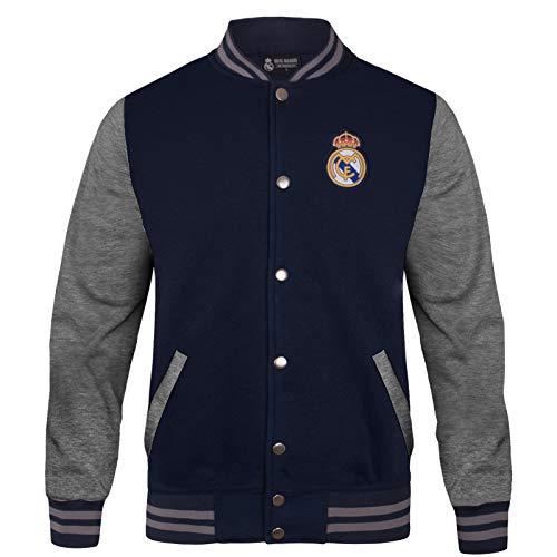 Real Madrid - Chaqueta Deportiva Oficial para Hombre - Estilo béisbol Americano - 3XL