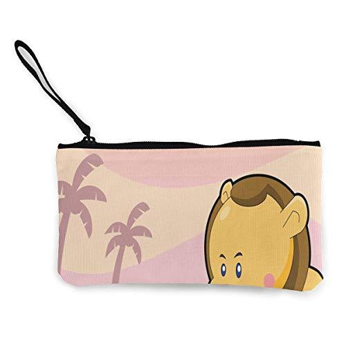 TTmom Carteras de Mujer, Monedero, Coin Purse Lion Over A Sunset Background Teen Girls Zipper Canvas Wallets ChangeFantastic Bag