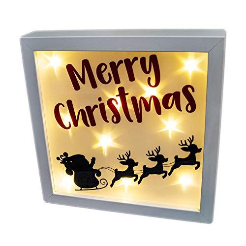 Beleuchteter Bilderrahmen mit Weihnachts-Motiv