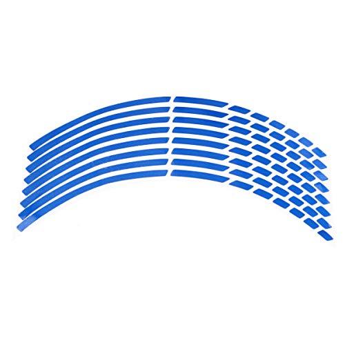 LIOOBO Cinta Adhesiva de la Etiqueta de la Raya de la llanta Reflectante para Ruedas de automóviles de Motocicleta (Azul)
