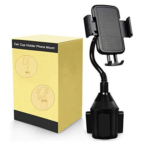 BICMTE Soporte Móvil Coche,Coche-Soporte Ajustable para el sujetavasos del Coche con Cuello Flexible de 8in para iPhone X/8/7/6/ Samsung S7/S8 y Más