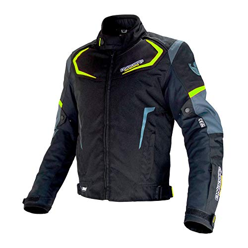ON BOARD Chaqueta DYNAMIC,UNISEX,3XL,Negro/Amarillo Fluor