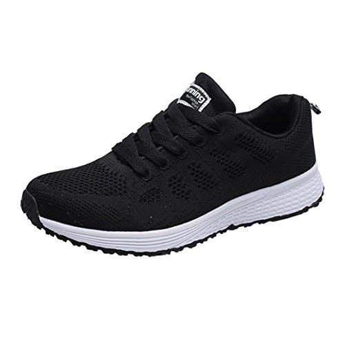 Zapatillas Deportivas de Hombres - Zapatos Sneakers Malla Zapatillas Hombres Running Casual Yoga Calzado Deportivo de Exterior de Hombres 38-43 (42 EU, Negro)