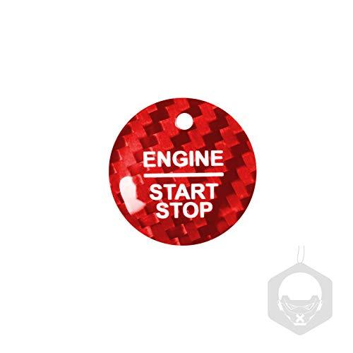 Etiqueta engomada arranque coche El inicio del motor del coche de fibra de carbono detiene la etiqueta engomada del anillo de encendido de encendido, pegatinas de encendido sin llave, para F-O-R-D F15