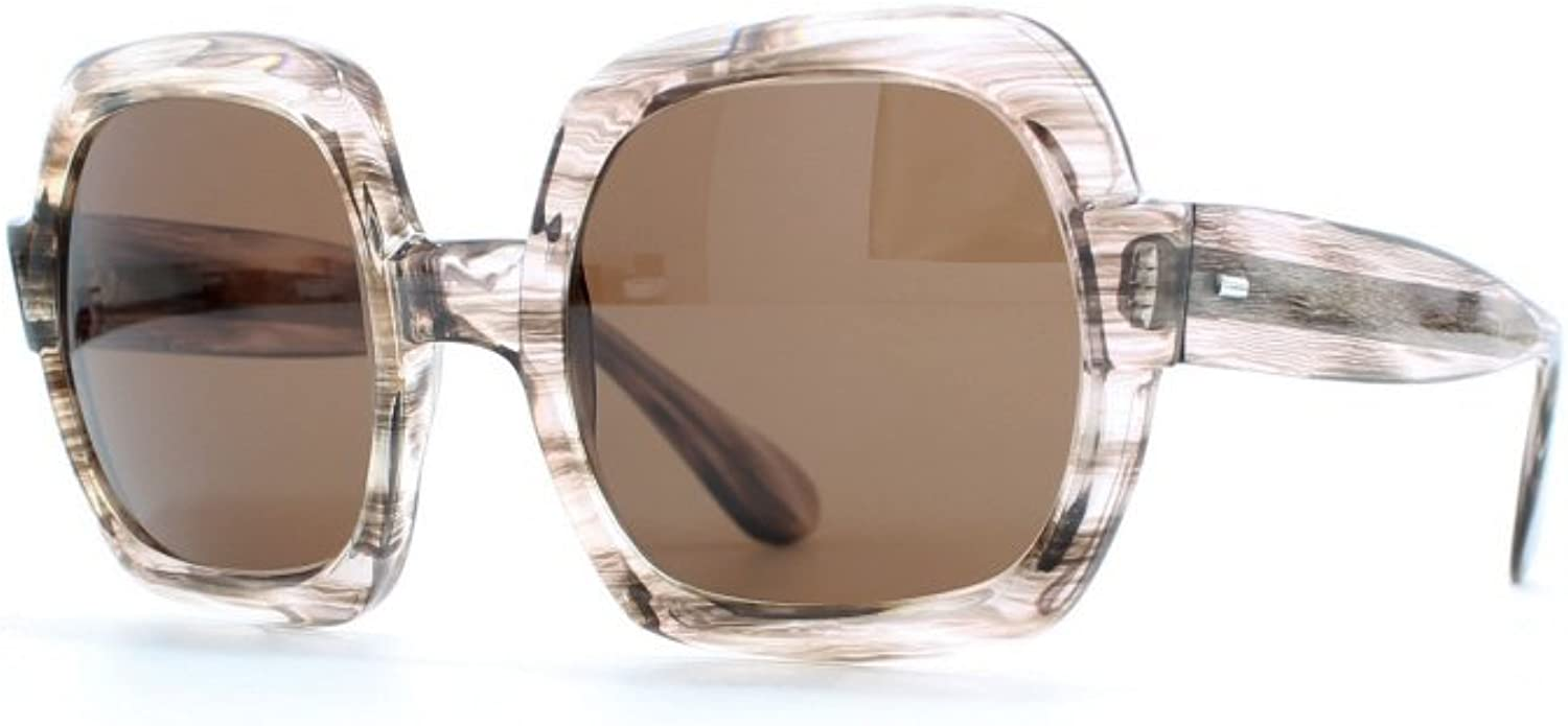 Rege Brown and Clear Authentic Women Vintage Sunglasses