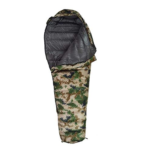 LAIABOR Outdoor Sacco A Pelo Mummia Unibile Con Zip Forma Di Mummia, Adulto, Per Estivo, Trekking, Viaggio,Digitalcamouflage1500g