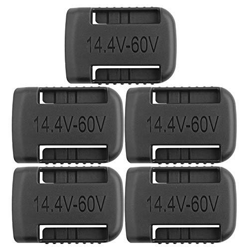 PUSOKEI Soporte de batería para XR 14V y 54V Flexvolt, para MAX 20V y 60V Flexvolt, 5PCS Soporte de batería Negro Fuerte 14V-60V