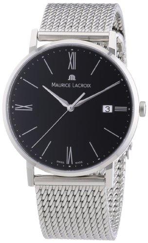 Maurice Lacroix Herren-Armbanduhr XL Eliros Analog Quarz Edelstahl EL1087-SS002-310