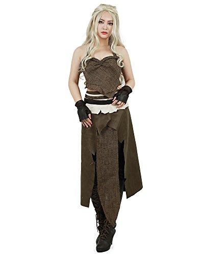 miccostumes Women's Dothraki Khaleesi Outfit Daenerys Targaryen Brown Cosplay Costume (Women s)