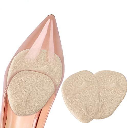 Haofy Ballenpolster Fußpolster Silikon Vorfuß Einlegesohlen, 2Paar Mittelfuß Pad Anti-Rutsch Vorfuß Kissen zur Verringerung des Vorfußdruck und Schmerz lindern, Gel High Heel Vorfusspolster für Frauen