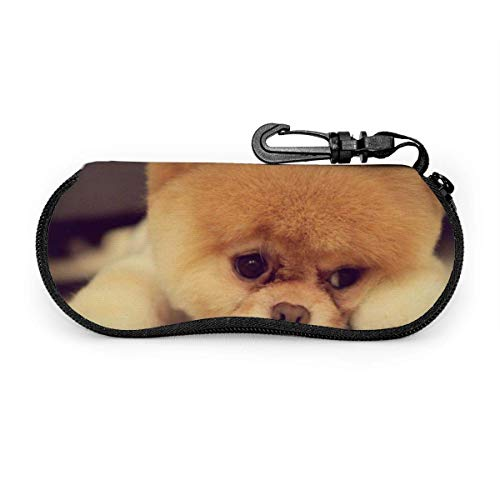 HHJJI Lovely Little Dog Sunglasses Soft Case Neoprene Portable Travel Slip In Zipper Eyeglasses Bag