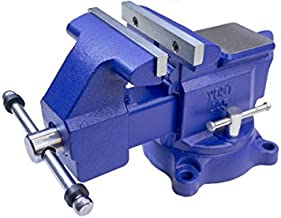 Yost Vises Model 465 Heavy-Duty Industrial 6.5- Inch Combination Pipe and Bench Vise Tool with 360-degree Swivel Base for Home or Industrial Craftsmen, Blue