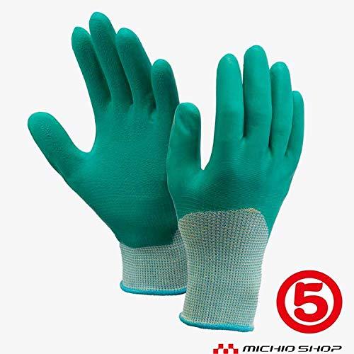 丸五 作業手袋 ソフト楽らく #170-3P 3双入り 天然 ゴム手袋 農作業用向け S グリーン
