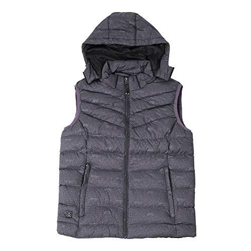 USB beheizte Weste, beheizte Kapuze Jacke Polyester beheizte Weste Kleidung Winter Outdoor Schwarz, Grau, Blau(XXXL-GRAU)