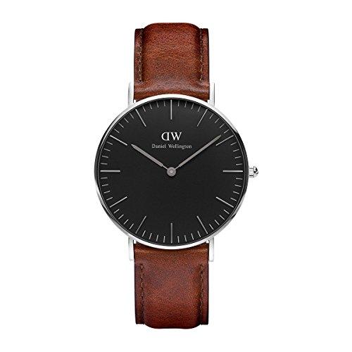 Daniel Wellington Unisex Analog Quarz Uhr mit Leder Armband DW00100142