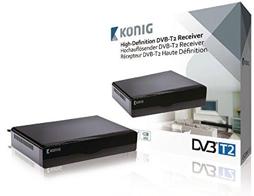 König DVB-T2 FTA10 DVB-T2 receiver met hoge resolutie zwart