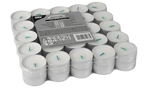 50 Teelichte Ø 37,2 mm, 17,9 mm weiss aus 100 % Stearin 81486 Papstar Stearin-Teelichter