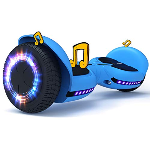 TOMOLOO Hoverboard with Bluetooth Speakers and Flash Led Lights Wheels,Hover Board for Kids, UL Certified Self Balancing Scooter Hoverboards Adult