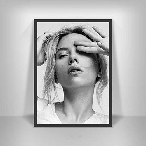 Canvastryck Sexiga Scarlett Johansson Affischer Film Hd Star Wall Art Heminredning Kanvasmålning Nordic Decoration Room Ramlös 50X70Cm -A1005