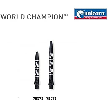 Short Black Unicorn World Champion Alloy Dart Stems