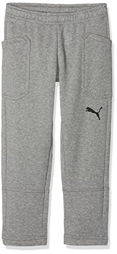 Puma Kinder Liga Casuals Pants Jr Hose, Medium Gray Heather Black, 116