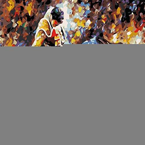 DIY Malen nach Zahlen Kits Krieger Stierkampf 50x70cm Anfänger Gemälde Vorgedruckt Leinwand-Ölgemälde mit Pinsel Acrylpigment für Erwachsene Kinder Set Home Haus Wandkunst Dekor Ohne Rahmen T7354